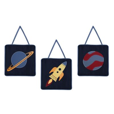 Sweet Jojo Designs Space Galaxy Wall Décor (Set of 3)
