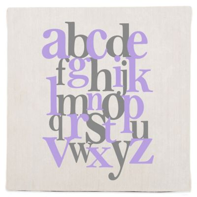 Glenna Jean Fiona Alphabet Fabric Covered Wall Art in Purple
