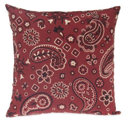 Glenna Jean Happy Trails Bandana Throw Pillow