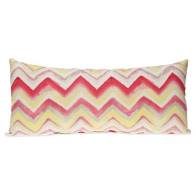 Glenna Jean Harper Rectangular Chevron Bolster Pillow