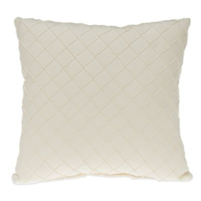 Glenna Jean Harper Pintuck Throw Pillow in Cream