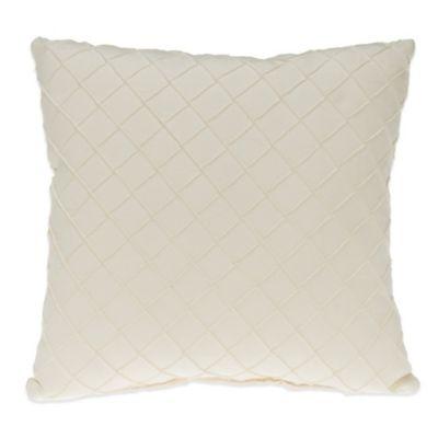Glenna Jean Harper Pintuck Throw Pillow in Cream