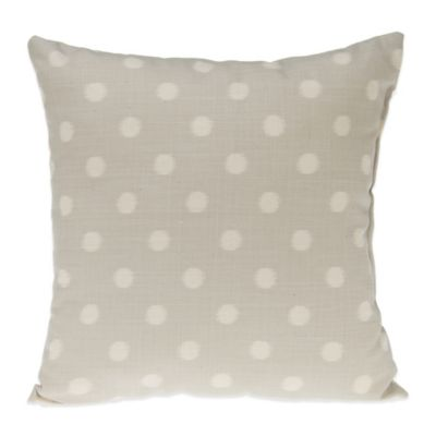 Gray Cream Throw Pillow