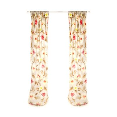 Glenna Jean Harper 90-Inch Floral Window Panels (Set of 2)