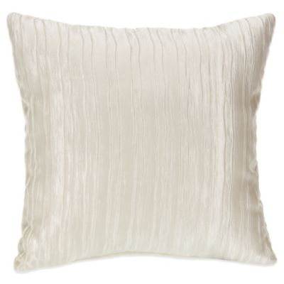 Glenna Jean Lil Princess Square Throw Pillow in Creamy Crinkle