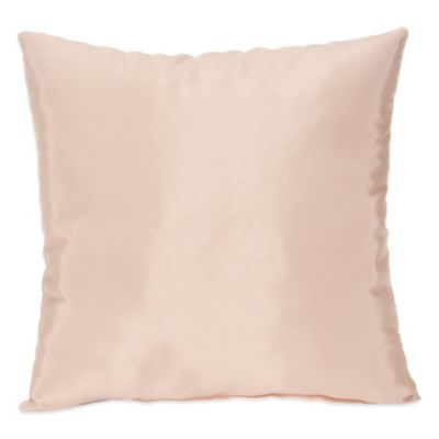 Lil Princess Square Throw Pillow in Pink