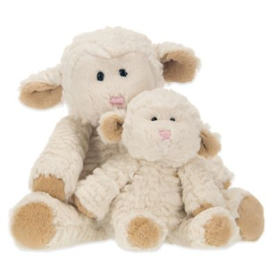Glenna Jean Lil Princess Plush Lambs in Cream (Set of 2)