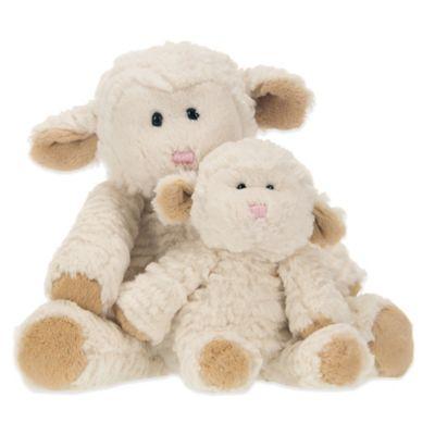 Glenna Jean Lil Princess Plush Lambs in Cream (Set of 2)