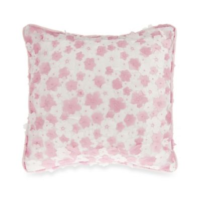 Glenna Jean Secret Garden Dimensional Floral Throw Pillow