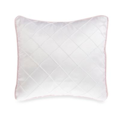 Glenna Jean Secret Garden Pintuck Throw Pillow in White