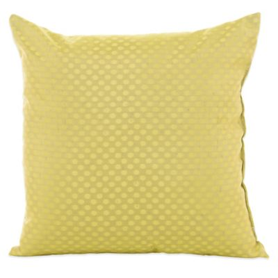 Glenna Jean Urban Cowboy Microdot Throw Pillow in Green