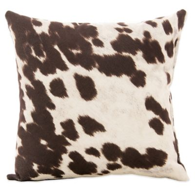 Glenna Jean Urban Cowboy Cowhide Throw Pillow