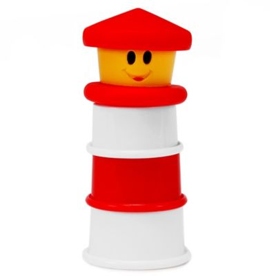 Sassy® 4-Piece Light-Up Lighthouse Bath Toy in Red/White