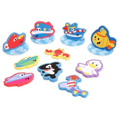 Sassy® 14-Piece Adventure Foam Applique Set in Blue/Multi