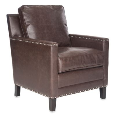 Safavieh Buckler Club Chair in Brown