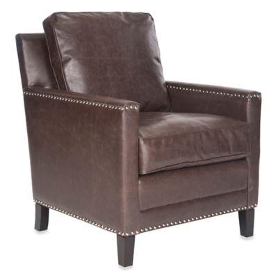 Safavieh Buckler Club Chair in Brown