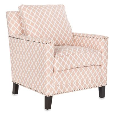Safavieh Buckler Club Chair in Peach