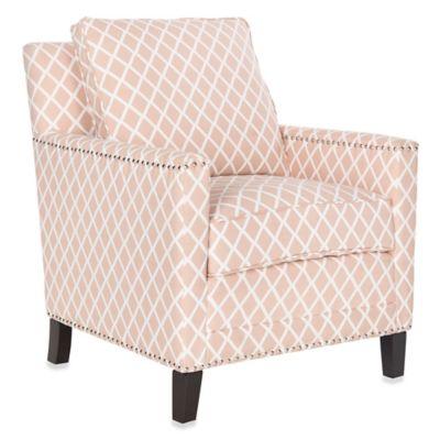 Safavieh Buckler Club Chair in Peach