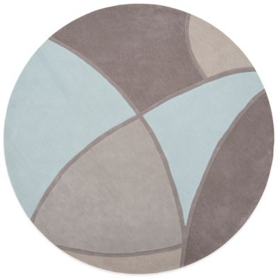 Surya Bamberg 8-Foot Round Area Rug in Grey