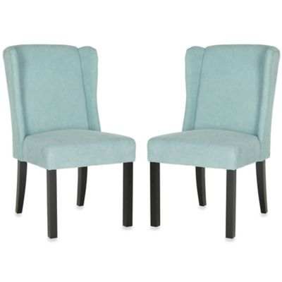 Safavieh Hayden Wingback Chair in Blue (Set of 2)