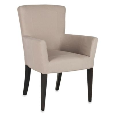 Safavieh Dale Arm Chair in Taupe