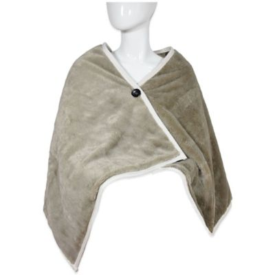 Vue® Wrap-Around Plush Throw in Taupe