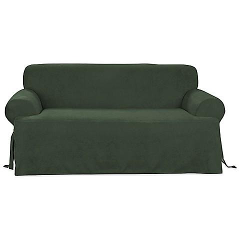 buy sure fit canvas cvc sofa slipcover in hunter green