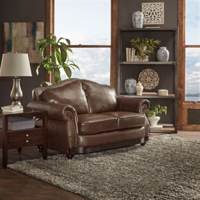 Verona Home Eaton Loveseat in Brown
