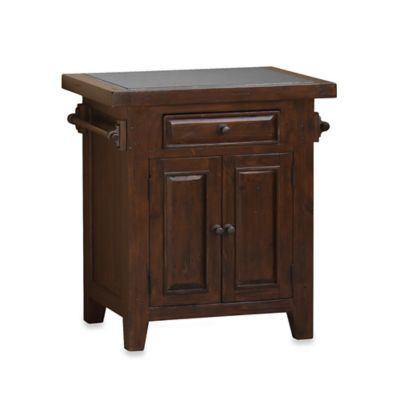 Hillsdale Tuscan Retreat® Granite Top Kitchen Island in Rustic Mahogany