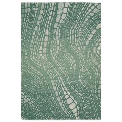 Kathy Ireland® Home Palisades Lava Flow 5-Foot x 7-Foot 6-Inch Area Rug in Aqua