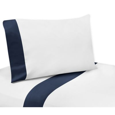 Sweet Jojo Designs Ocean Blue 4-Piece Full/Queen Sheet Sets