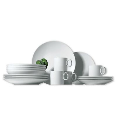 Sets of White Dinnerware
