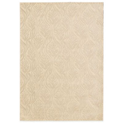 Kathy Ireland Home Hollywood Shimmer 3-Foot 9-Inch x 5-Foot 9-Inch Area Rug in Beige