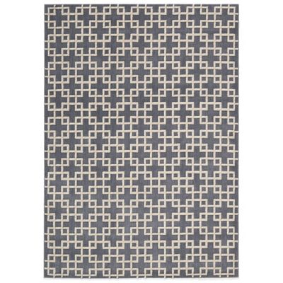 Kathy Ireland® Home Hollywood Shimmer Times Square 5-Foot 3-Inch x 7-Foot 5-Inch Rug in Steel