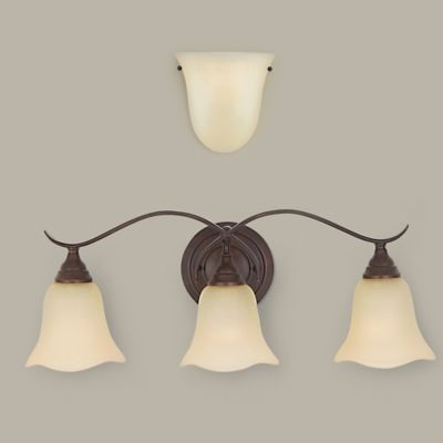 Feiss® Morningside 3-Light Wall-Mount Vanity Light in Bronze