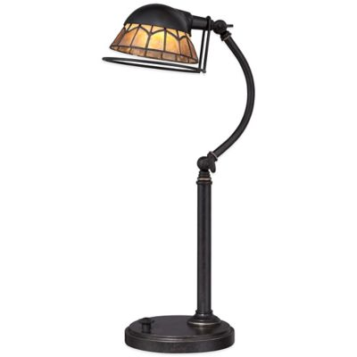 Quoizel Vivid Collection Whitney LED Imperial Desk Lamp in Bronze