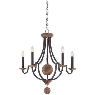 Quoizel Wyndmoor 5-Light Chandelier in Western Bronze