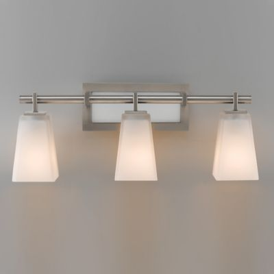 Feiss® Clayton 3-Light Wall-Mount Vanity Fixture in Brushed Steel