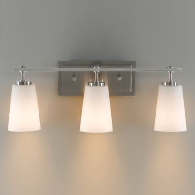 Feiss® Sunset Drive 3-Light Wall-Mount Vanity Light in Brushed Steel