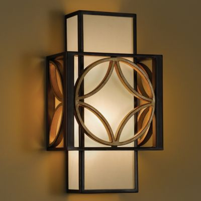 Feiss® Remy Wall-Mount Sconce in Heritage Bronze and Parisienne Gold