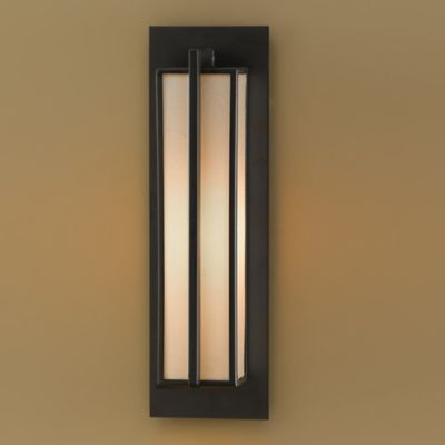 Feiss® Stelle Wall Sconce in Oil Rubbed Bronze with Cream Linen Shade