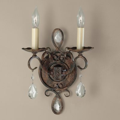 Feiss® Chateau 2-Light Wall Sconce in Mocha Bronze