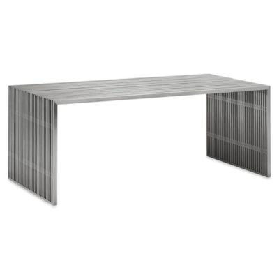 Zuo® Novel Dining Table in Brushed Stainless Steel