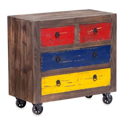 Zuo® Ramsell Distressed Multicolor Cabinet