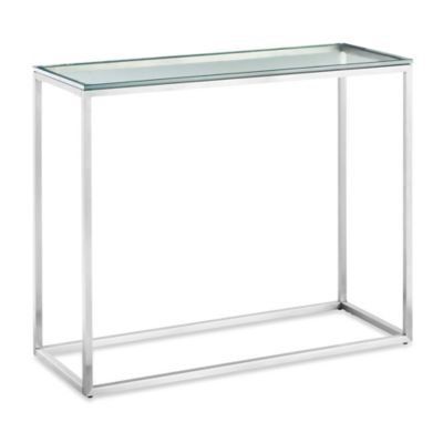Zuo® Sprocket Brushed Stainless Steel Console Table