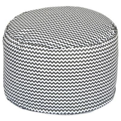 Trend Lab® Bedtime Grey Chevron Petite Pouf Ottoman