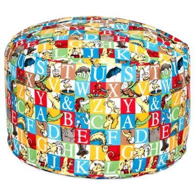 Dr. Seuss™ by Trend Lab® Alphabet Seuss Petite Pouf Ottoman in Multi