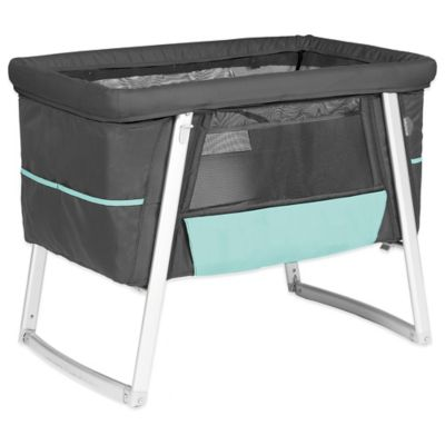 babyhome® Dream Air Bassinet in Graphite Dark Grey/Aqua