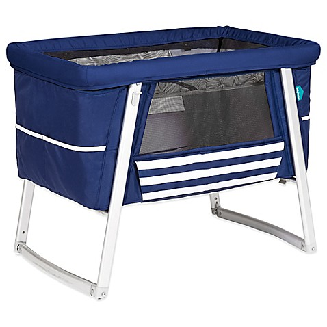 Buy babyhome dream air portable bassinet in sailor blue for Portable bassinet
