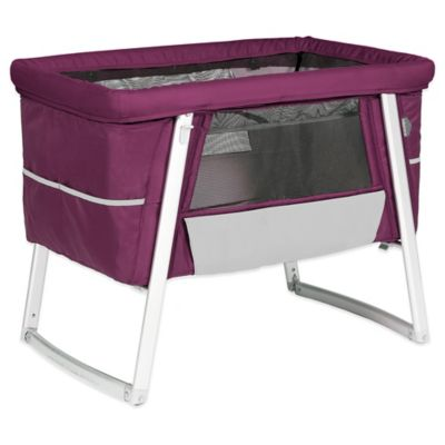 babyhome® Dream Air Bassinet in Purple/Grey